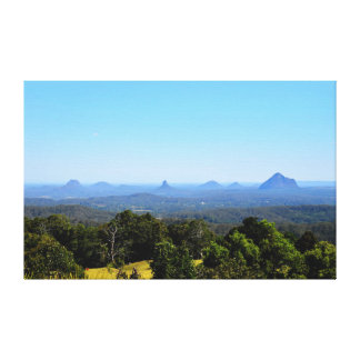 GLASS HOUSE MOUNTAINS QUEENSLAND AUSTRALIA CANVAS PRINT