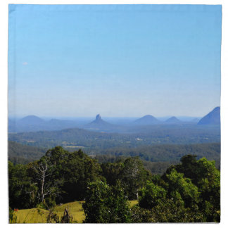 GLASS HOUSE MOUNTAINS QUEENSLAND AUSTRALIA NAPKIN