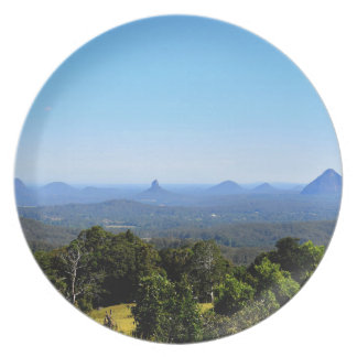 GLASS HOUSE MOUNTAINS QUEENSLAND AUSTRALIA PLATE