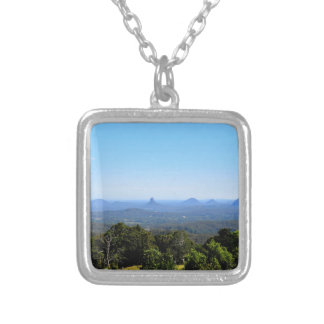 GLASS HOUSE MOUNTAINS QUEENSLAND AUSTRALIA SILVER PLATED NECKLACE