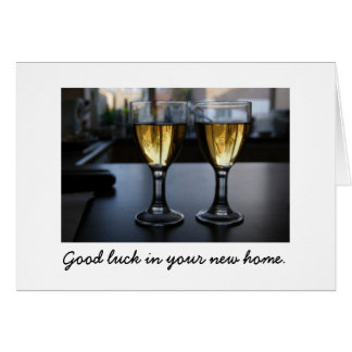 Glass Houses :  Good luck in your new home. Card