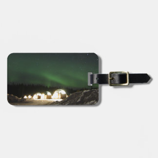 Glass Igloo under the Northern Lights Luggage Tag