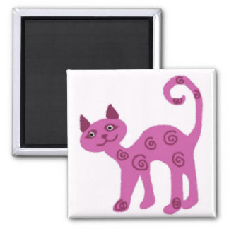 Glass looking kitty cat magnet