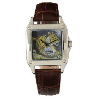 Glass Magic lantern slide A TIGER 1900 BIG CAT Watch