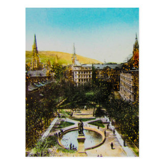 Glass Magic Lantern Slide MONTREAL 1890 Canada Postcard
