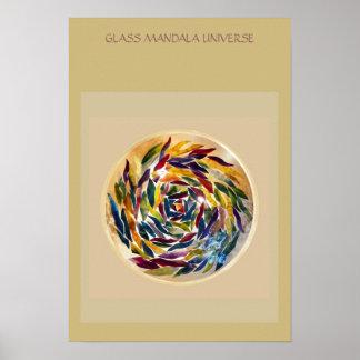 Glass Mandala Universe Interior Art Poster