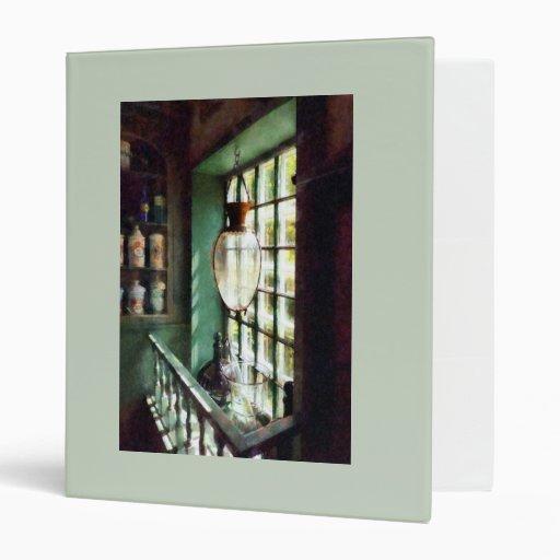 Glass Mortar and Pestle on Windowsill Vinyl Binders