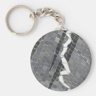 Glass mosaic keychain