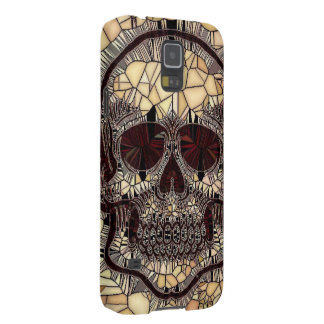 Glass Mosaic Skull,beige Galaxy S5 Cover