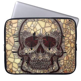 Glass Mosaic Skull,beige Laptop Sleeve