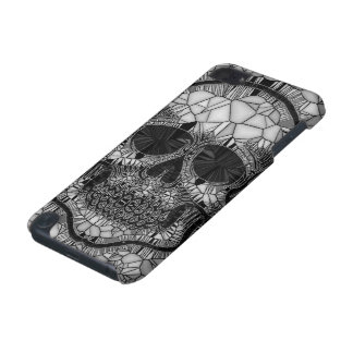 Glass Mosaic Skull, black white iPod Touch (5th Generation) Cases