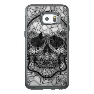 Glass Mosaic Skull, black white OtterBox Samsung Galaxy S6 Edge Plus Case