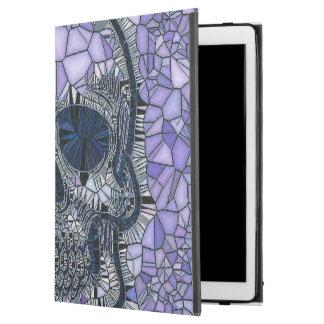 "glass mosaic skull, blue iPad pro 12.9"" case"
