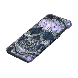 glass mosaic skull, blue iPod touch 5G case
