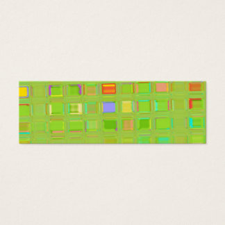 Glass Mosaic Tile template Mini Business Card