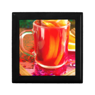 Glass mug with citrus mulled wine gift box