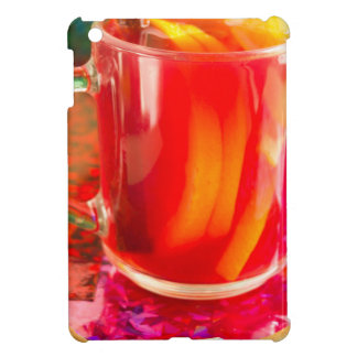 Glass mug with citrus mulled wine iPad mini cases