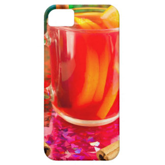 Glass mug with citrus mulled wine iPhone 5 cover