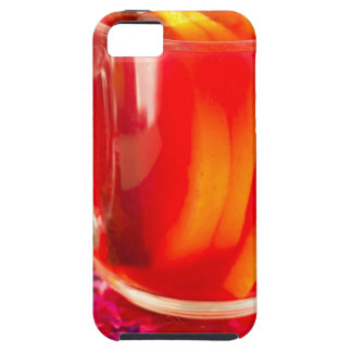 Glass mug with citrus mulled wine iPhone 5 covers