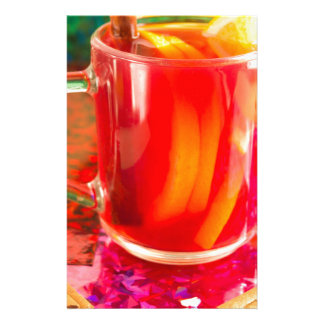 Glass mug with citrus mulled wine stationery