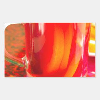 Glass mug with citrus mulled wine sticker