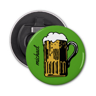 Glass of Beer custom name & color bottle opener