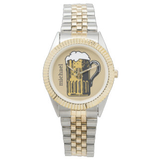 Glass of Beer custom name & color watches