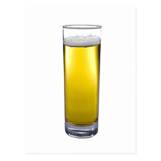 glass of beer postcard