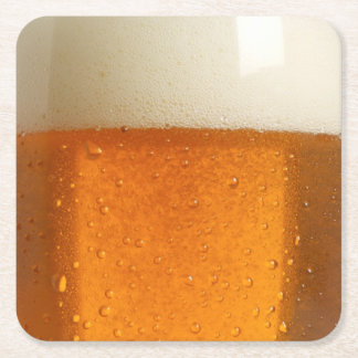 Glass of Beer Square Paper Coaster