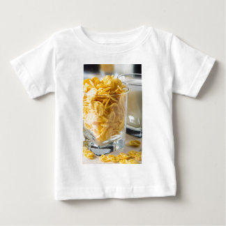 Glass of dry cereal and a glass of milk baby T-Shirt