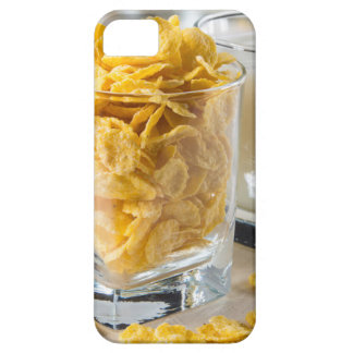 Glass of dry cereal and a glass of milk iPhone 5 cover