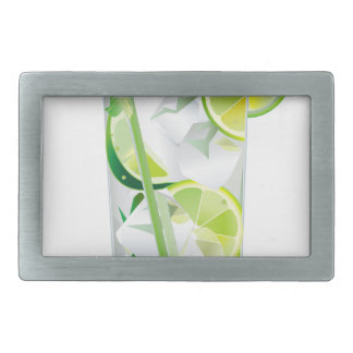 Glass of Refreshing Cocktail Mix Belt Buckle