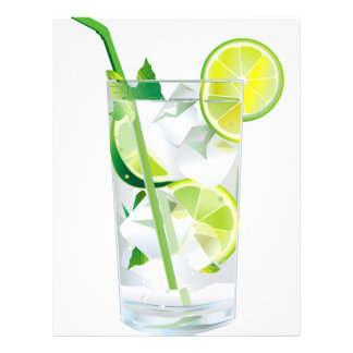 Glass of Refreshing Cocktail Mix Letterhead