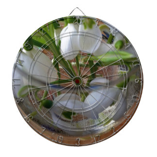 glass of snowdrops dartboard