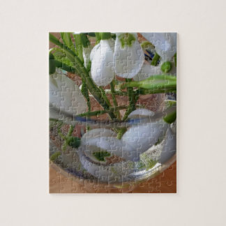glass of snowdrops jigsaw puzzle