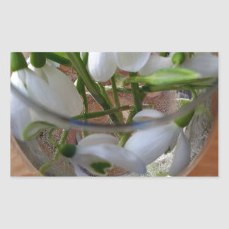 glass of snowdrops sticker