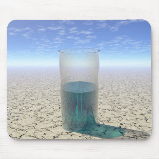 Glass of Water Mouse Pad