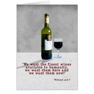 Glass of Wine Card