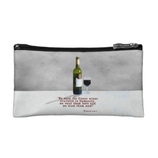 Glass of Wine Cosmetic Bag