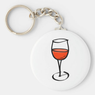 Glass of Wine Keychain