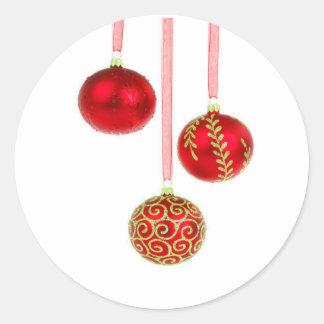 Glass Ornaments Classic Round Sticker