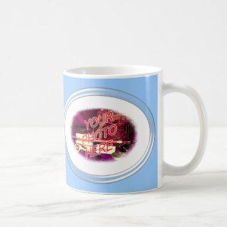 Glass Oval Frame Template Coffee Mugs