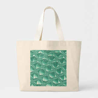Glass Prison teal abstract minimalist square art Large Tote Bag