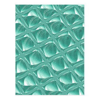 Glass Prison teal abstract minimalist square art Post Card