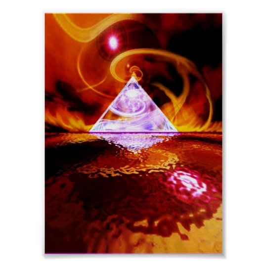 Glass Pyramid Poster