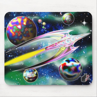 Glass Rocket Mouse Pad