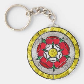 Glass Rose Keychain