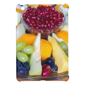 Glass scale full of various fresh fruits case for the iPad mini