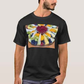 Glass scale full of various fresh fruits T-Shirt