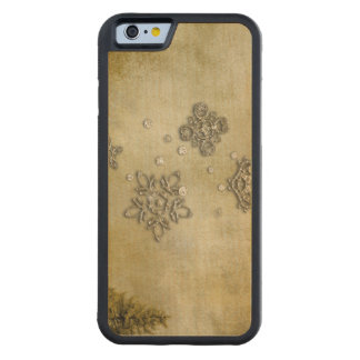Glass Snowflakes on Tree Background Carved Maple iPhone 6 Bumper Case